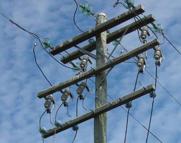 Large image of Cross Arms in situ on a power pole