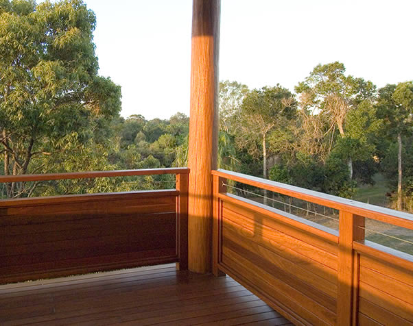 Large image of  Select Grade Forest Red Deck in Pole Home