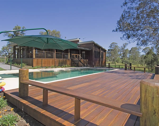 Large image of Select Grade spotted gum deck around inground pool