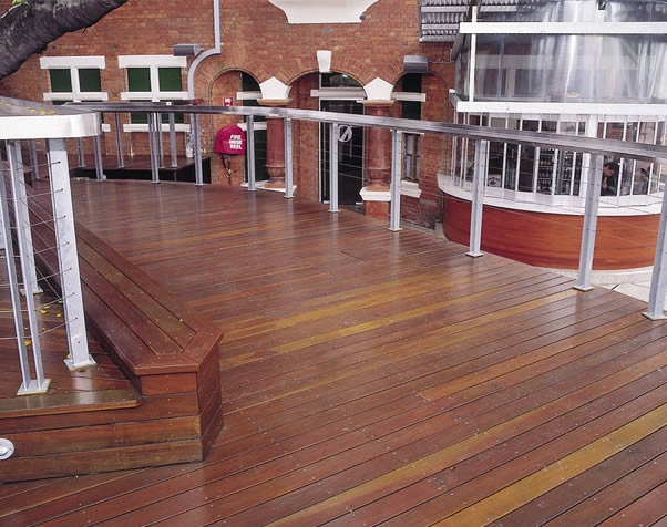 Large image of Select Grade spotted gum decking featuring a bar area at the Normanby Hotel Brisbane