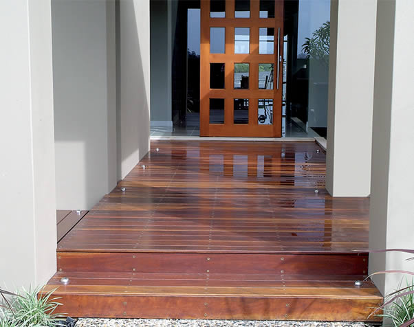 Large image of Select Grade spotted gum decking featuring in an porch entrance