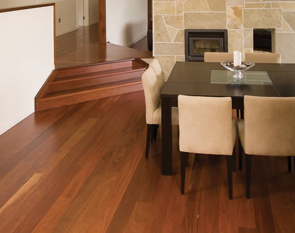Large image of Premium Grade Forest Red Overlay Floor in the dining area