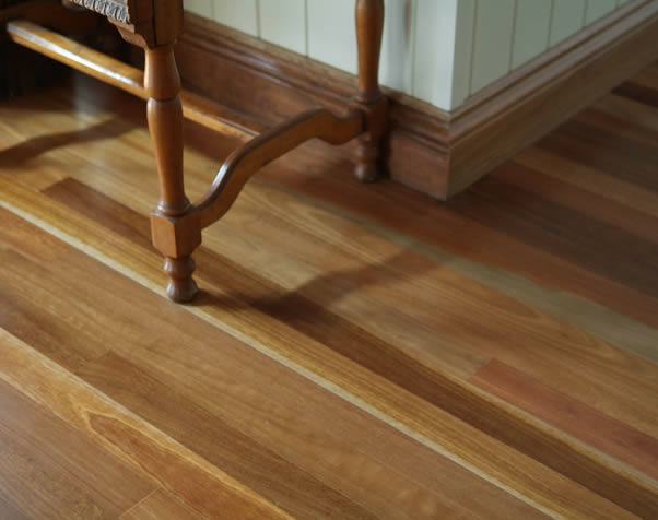 Large image of Close up of the colour variations of a premium Grade Spotted Gum Floor