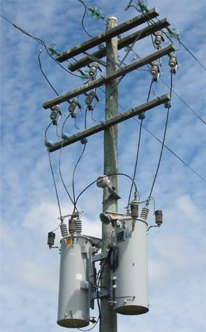 image 1 of Electricity Power Poles showing strength