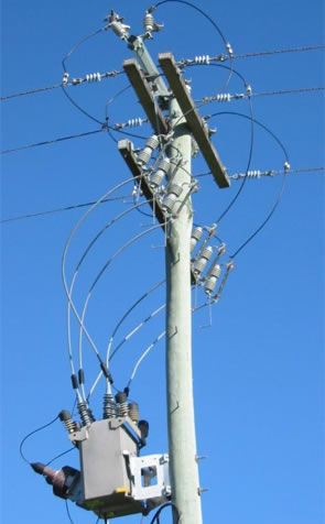 image 2 of Electricity Power Poles showing strength