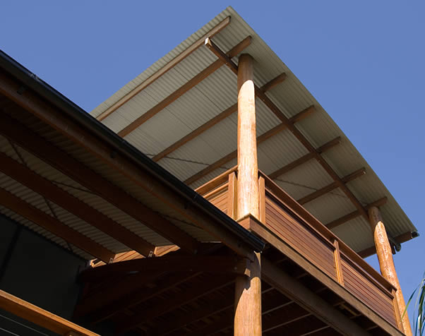Large image of Structural Hardwood used as purlins