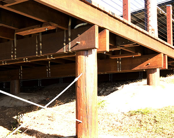 Large image of Structural Hardwood used as joists