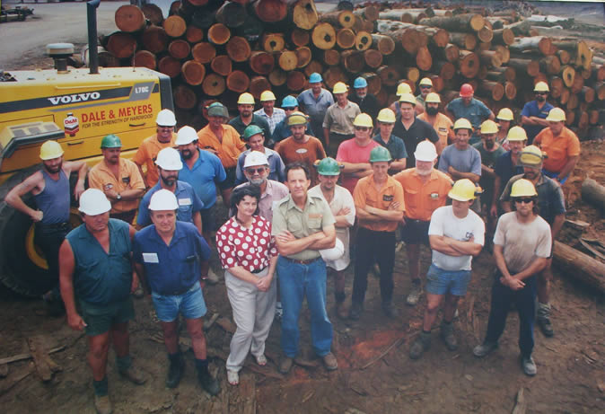 Photo of original Hardwood Mill team 1995