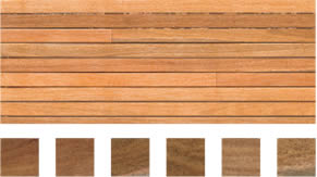 Select grade sample of Spotted Gum flooring