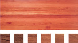 Select grade sample of Forest Reds flooring