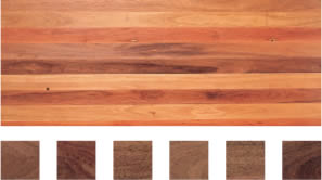 Select grade sample of Grey Ironbark flooring