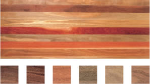 Select grade sample of Mixed Hardwoods flooring